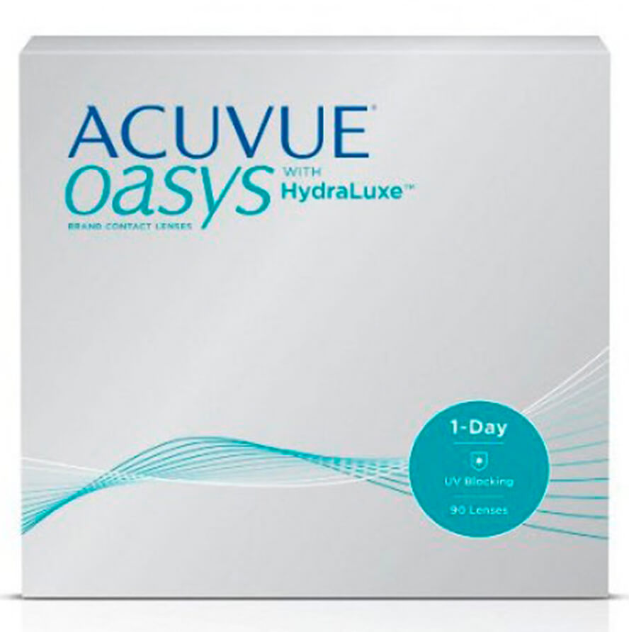 1758bcb68af Acuvue Oasys 1 Day with HydraLuxe Technology 90 pack - Get Contact Lenses  Online